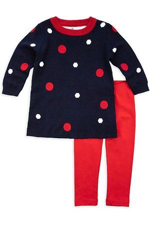 Florence Eiseman Girls Leggings - Little Girl's 2-Piece Polka Dot Sweater & Leggings Set
