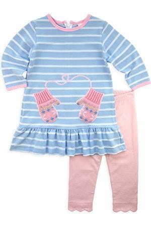 Florence Eiseman Baby Girl's 2-Piece Striped Mitten Dress & Leggings Set