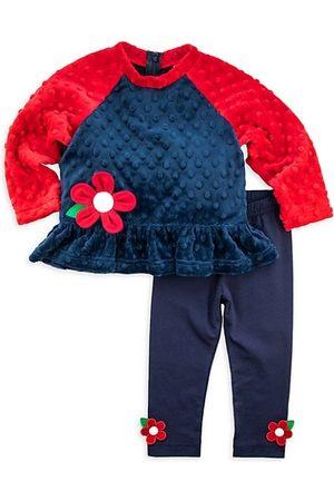 Florence Eiseman Baby Girl's 2-Piece Dimple Fleece Top & Leggings Set