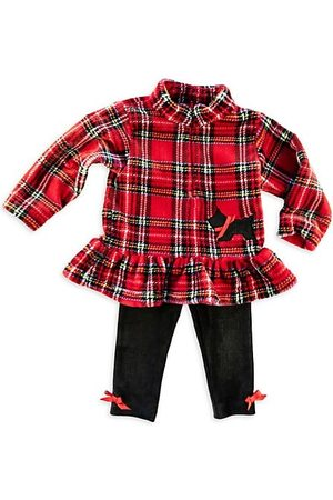Florence Eiseman Little Girl's 2-Piece Plaid Fleece Top & Leggings Set