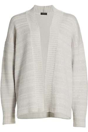 Saks Fifth Avenue COLLECTION Sequin Striped Cardigan