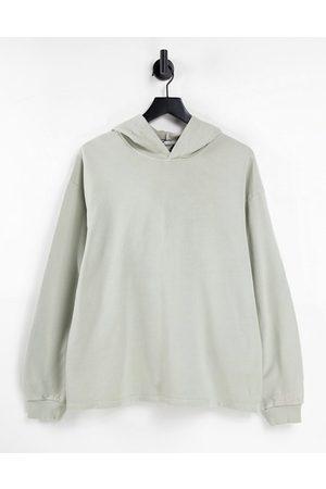 ASOS Minimal hoodie in washed khaki