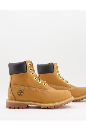 Timberland 6 inch premium boots in wheat tan