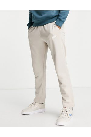 Nike Club french terry straight fit joggers in stone-Neutral