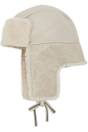 Brunello Cucinelli Hats - Dyed Lamb Fur & Leather Hat