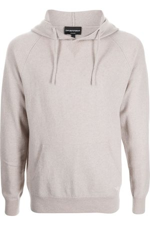 Emporio Armani Cashmere knitted hoodie