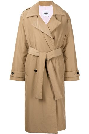 Msgm Logo patch trench coat
