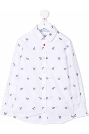 Paul Smith Embroidered-zebra long-sleeve shirt