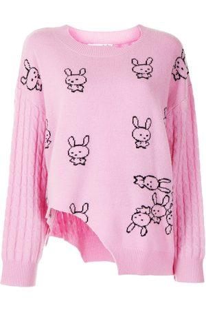 Natasha Zinko Cut-out intarsia sweater