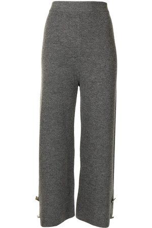 Izaak Azanei Cropped ribbed-knit culottes