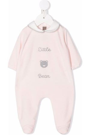 LITTLE BEAR Embroidered-logo cotton pajamas