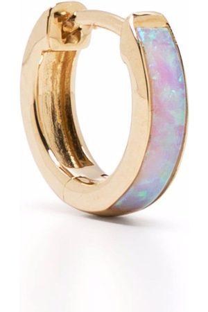 PAMELA LOVE 14kt yellow Inlay opal huggie earring