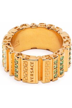VERSACE Crystal embellished Greca ring