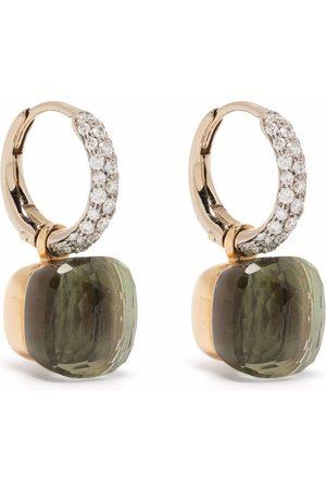 Pomellato 18kt rose and white gold Nudo prasiolite and diamond earrings