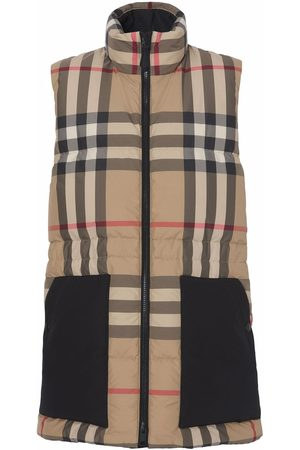 Burberry Checked puffer gilet