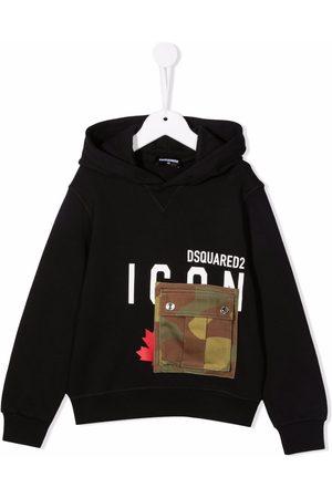Dsquared2 Logo-print flap-pocket hoodie