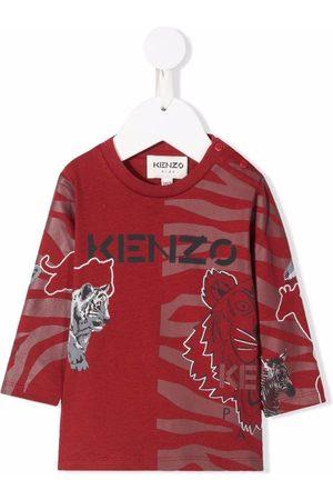 Kenzo Animal-print organic cotton T-shirt
