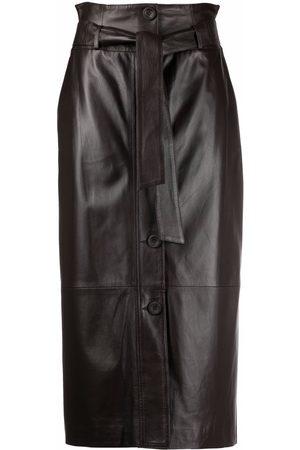 arma leder Mirabella tie-waist pencil skirt