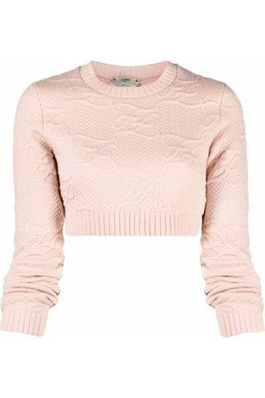 Fendi Karligraphy cropped jumper