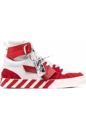 OFF-WHITE HIGH TOP VULCANIZED LEATHER RED