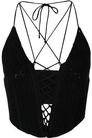 DION LEE Crochet cropped top