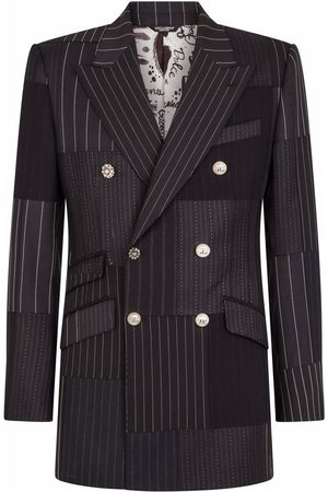 Dolce & Gabbana Double-breasted patchwork suit jacket
