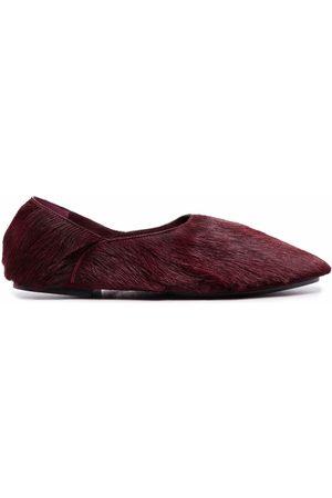 Jil Sander Textured leather ballerinas