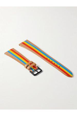 laCalifornienne Primary Striped Leather Watch Strap