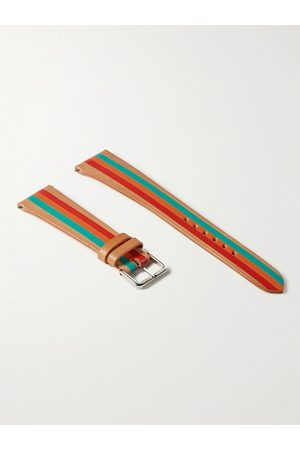 laCalifornienne Terrazza Striped Leather Watch Strap