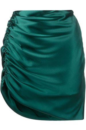 Michelle Mason Silk symmetrical gathered skirt