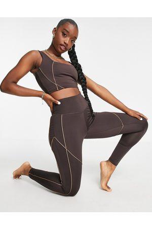South Beach Women Leggings - Seam detail contour leggings in