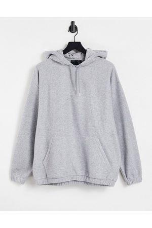 ASOS Men Sweatshirts - Oversized polar fleece hoodie in marl