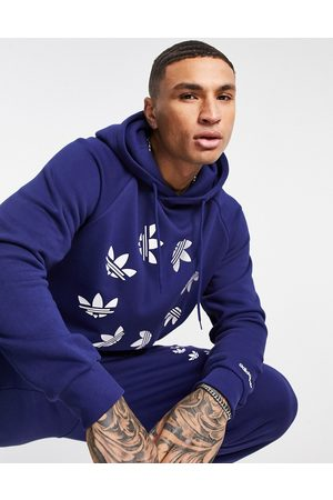 adidas Adicolor bold hoodie in navy