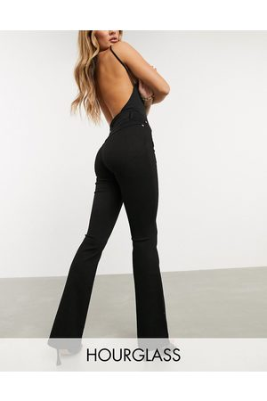 ASOS High rise 'lift and contour' flare jeans in clean