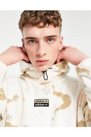 adidas RYV fleece hoodie in camo print-Neutral