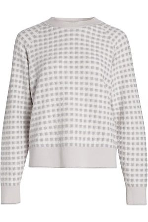 Barrie Gingham Pullover Sweater