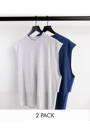 ASOS Men Camisoles - 2 pack oversized vest-Multi