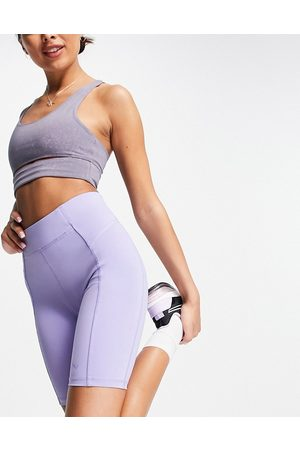 Only Play Sports performance high waist legging shorts in lilac