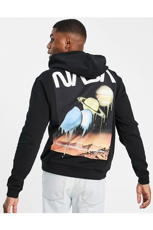ASOS Hoodie with Nasa melting planet graphic print in