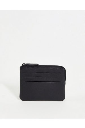 ASOS Leather zip around wallet with card holder in