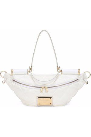 Dolce & Gabbana Quilted logo-plaque belt bag