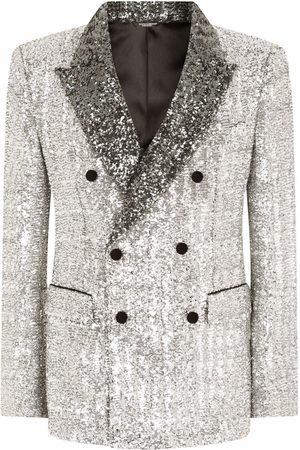 Dolce & Gabbana Men Blazers - Sequinned double-breasted blazer