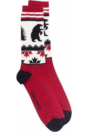 Dsquared2 Intarsia-knit ankle socks