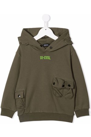 Diesel Kids Embroidered-logo hoodie