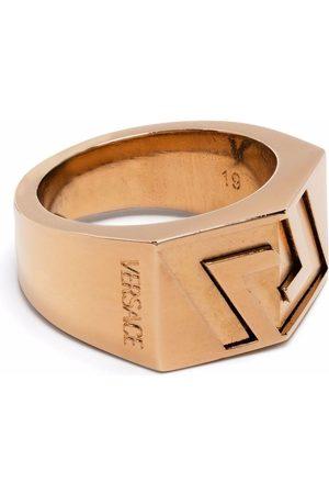Versace La Greca engraved ring