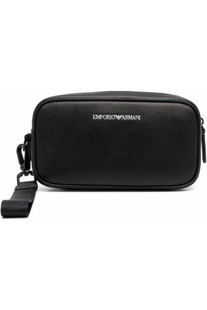 Emporio Armani Recycled leather wash bag