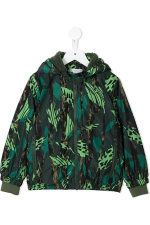 Stella McCartney Leaf-print zip-up jacket