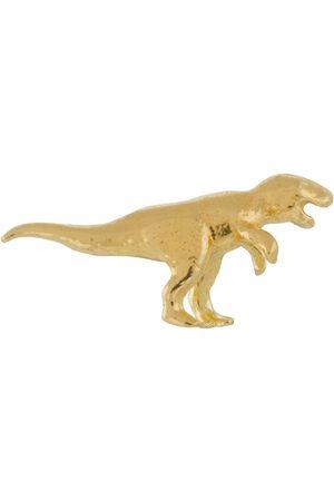 Alex Monroe 18kt yellow Teeny T-Rex stud single earring