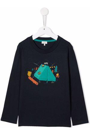 Paul Smith Junior Camping print longsleeved T-shirt