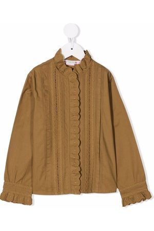 Bonpoint Ruffle-trim longsleeved blouse